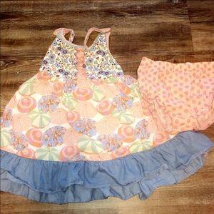 Matilda Jane dress and bloomers